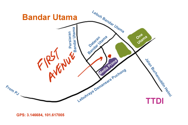 direction to First Avenue, Bandar Utama