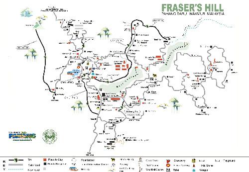 Fraser Hill map