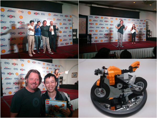 with Charly Boorman, Freedom Riders Asia. I won a LEGO set too