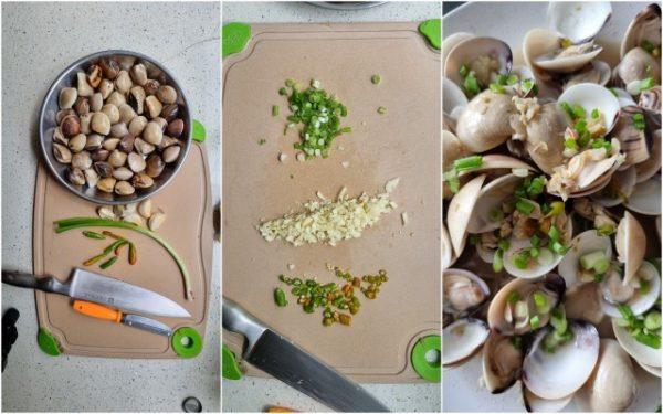 lala, spring onion, garlic, cilipadi