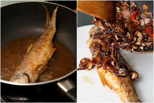 fried ma yau - threadfin fish