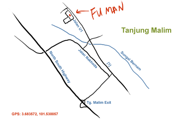 direction to Fu Man restaurant, Tanjung Malim