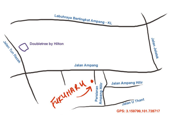 map to Fukuharu, off Jalan Ampang