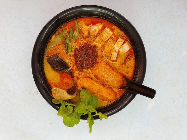 Nyonya Curry Mee with extras