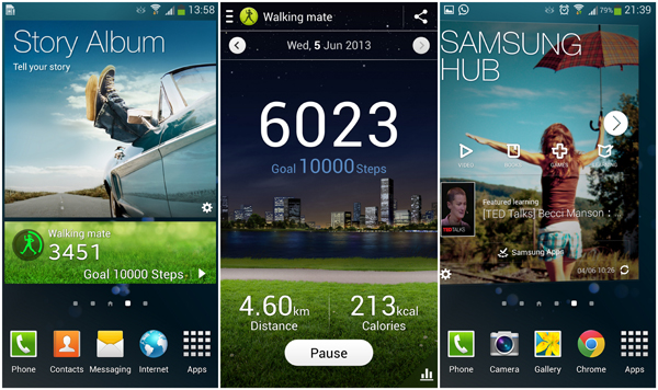 Story Album, Walking Mate, Samsung Hub