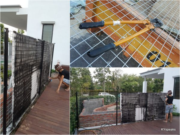 we procured galvanized fencing and repainted them black
