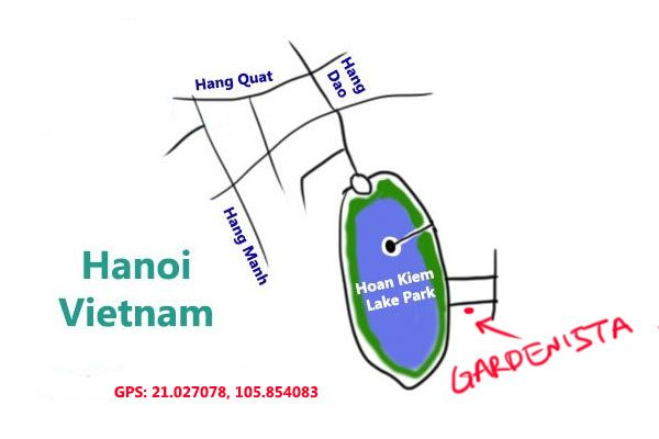 gardenista cafe, hanoi, map