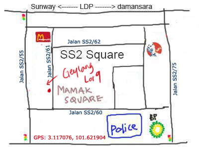 map to Singapore Geylan Lor9 at SS2