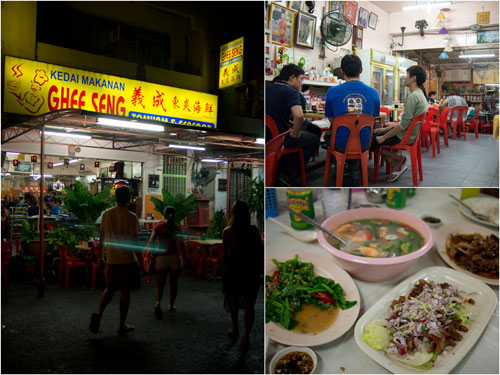 Ghee Seng Thai restaurant, a modest shop lot at Pangkalan Weld