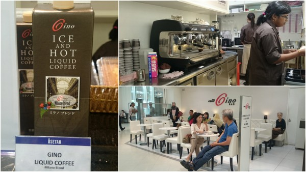 Gino coffee on ground floor, Isetan KLCC