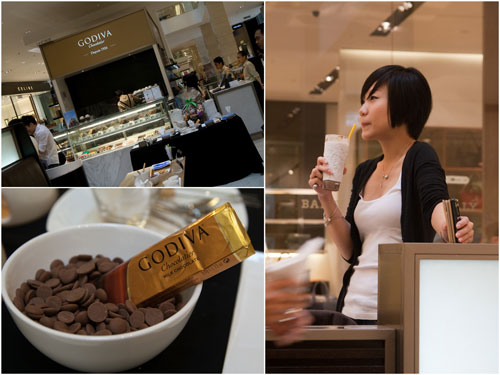Godiva cafe at Pavilion KL
