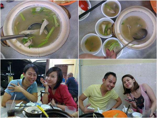 "and the spicy soup ""lat thong"" was superb! KY, Winnie, Horng, Yuki"
