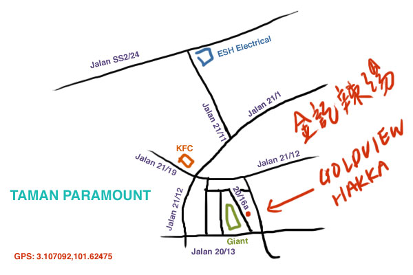 map to Taman Paramount