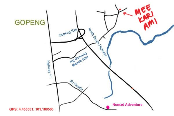 map to mee kari ami, Gopeng