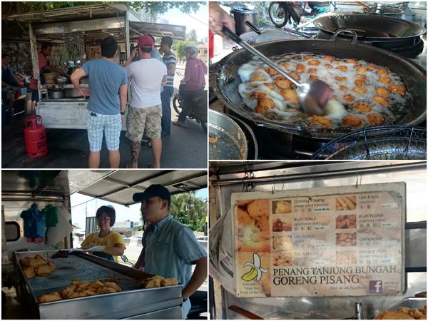 Goreng Pisang stall at Tanjung Bungah, Penang