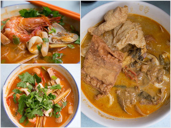 tomyam seafood noodle, and curry soup version too