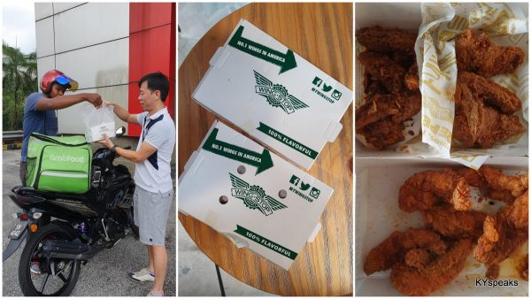 my wings from Wingstop is here via GrabFood!