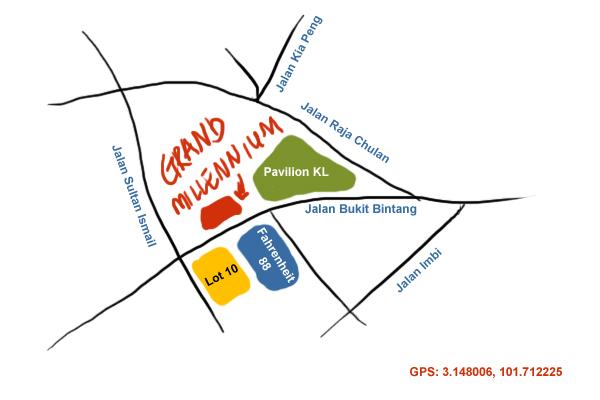 map to Grand Millennium Hotel, Kuala Lumpur