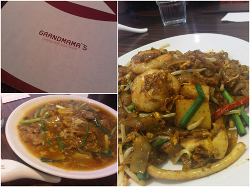 grandmama's char kueh teow and beef hor fun