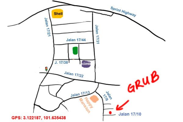 map to Grub by Ahong & Friends