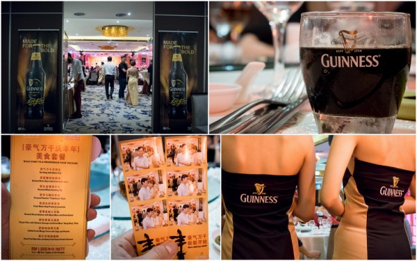 Special 2015 CNY Guinness dinner menu at Grand Imperial BSC