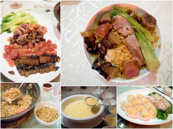 clay pot rice with dried meat, Chinese desserts