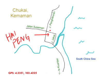 map to Hai Peng Kopitiam