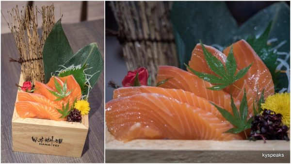 shake sashimi (thick cut salmon)
