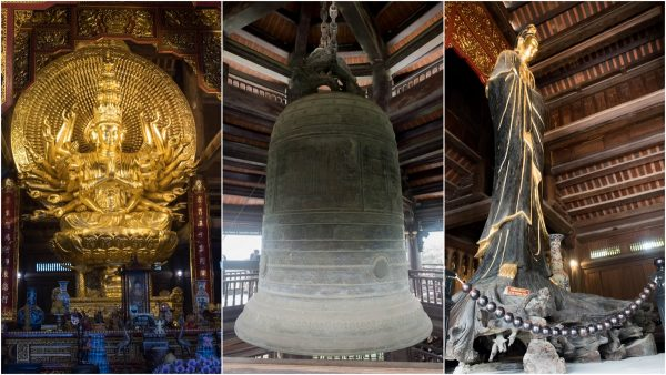 Bai Dinh Pagoda, with the biggest bell in Vietnam