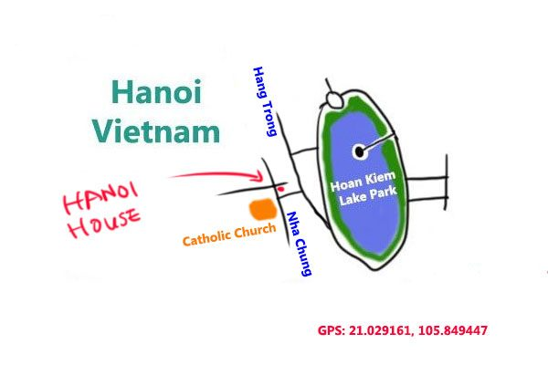 hanoi house at Vietnam, map