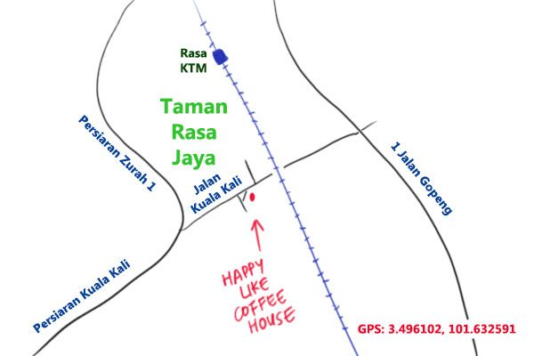 map to Happy Like Coffee House