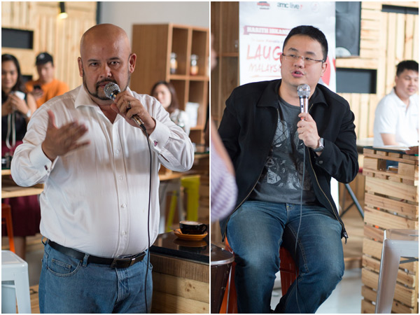 Harith Iskandar and Jason Leong giving us a run down of Laugh Malaysia