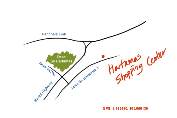map to Hartamas Shopping Centre