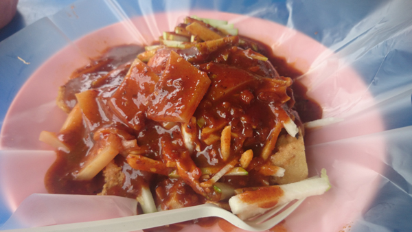 a proper plate of mamak rojak, I like mine with sotong too