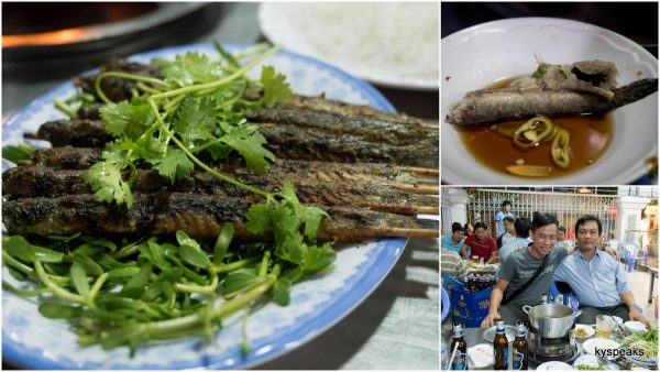 grilled keo fish vs steamboat version, Trinh & me