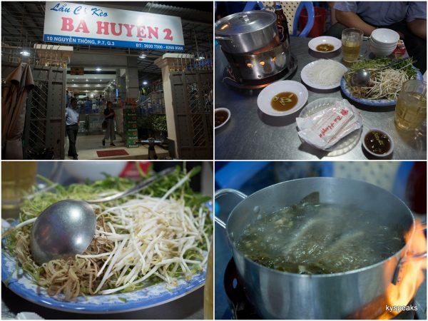 Quán Lẩu Cá Kèo Bà Huyện is the name of the restaurant