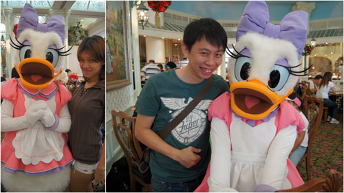 and a couple pictures with Diasy Duck
