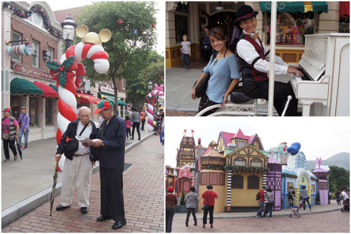 Main Street USA and upcoming Christmas decoration