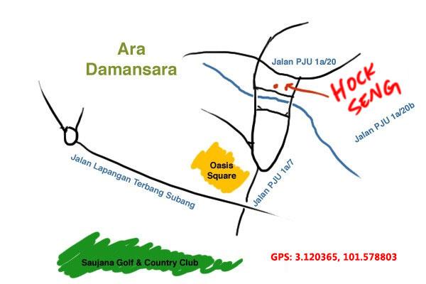 hock seng ara damansara map