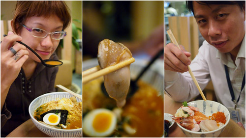 Haze and KY at Hokkaido Ichiba Japanese restuarant