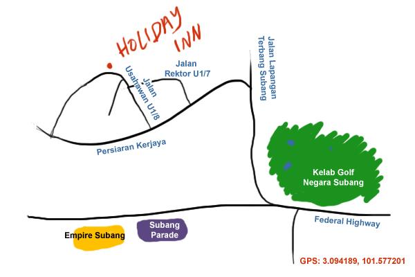 direction to Holiday Inn Kuala Lumpur, Glenmarie
