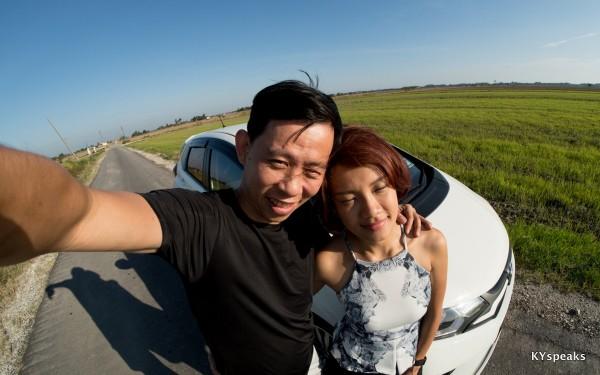 Sekinchan paddy field, it's 2015, year of selfie?