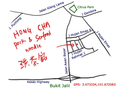 map to Hong Cha at Old Klang