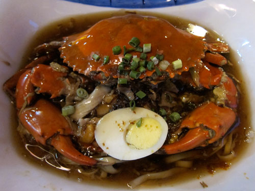 lam mee with crab