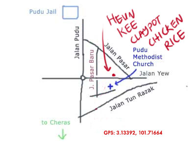 map to Huen Kee claypot chicken rice