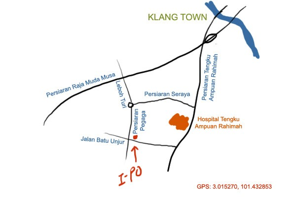 map to i-po roast duck, klang
