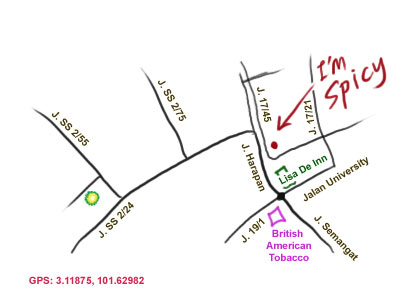 map to I'm Spicy Thai restaurant, Petaling Jaya Seksyen 17