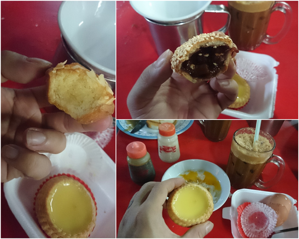 tried the almond tart, charsiu tart, and egg tart