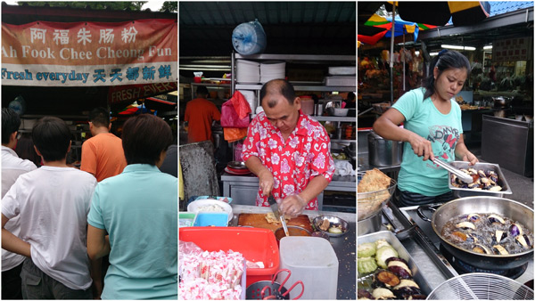 Ah Fook Chee Cheong Fun at Imbi Market, always with a queue