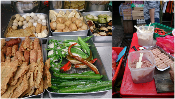 a good selection of yong tau foo made from scratch on the spot